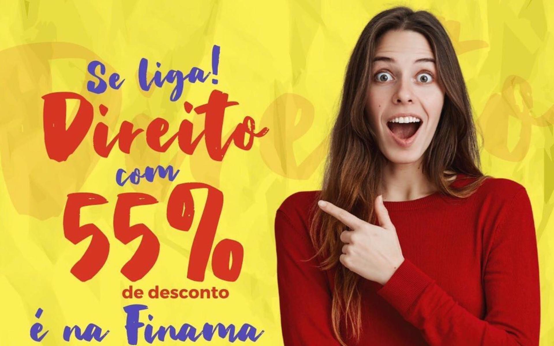 Até dia 13: FINAMA abre novas vagas para Direito com 55% de desconto nas mensalidades