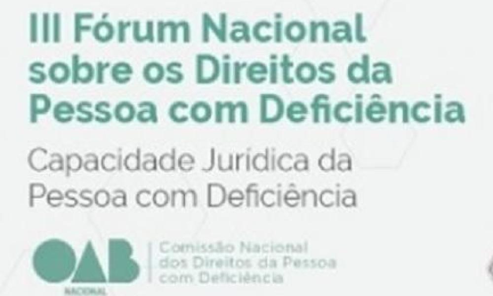 ATENÇÃO ESTUDANTES DE DIREITO: OAB abre inscrições gratuitas para Fórum Nacional sobre os Direitos da Pessoa com Deficiência